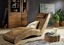 RelaxliegeSpleenWellnessliege Sessel Einzelsofa Wohnzimmer Massiv AntikBraun
