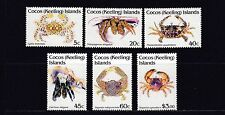 COCOS Islands 1992 CRABS  - MARINE LIFE Design set of 6  to $3  MNH