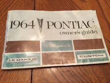1964 Pontiac Owners Guide - Nice Condition (original) With Original Registration
