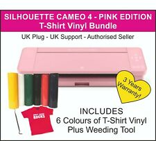 Silhouette Cameo 4 Cutter - PINK EDITION - UK Stock - T-Shirt Vinyl & Hook Tool
