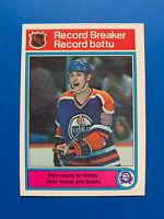 Wayne Gretzky 1982-83 #1 Record Breaker O-Pee-Chee Hockey Card Edmonton Oilers