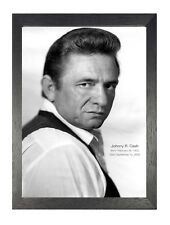 Johnny Cash 4 American Singer Songwriter Guitarist Actor Author Poster Photo B&W
