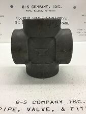 """Forged Steel Cross 4"""" 3000# Threaded A105 ANVIL HT: 3844A"""