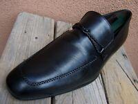 MEZLAN Mens Dress Shoe Elegant Soft Black Leather Casual Slip On Loafer Size 11M
