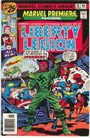 Marvel Premiere 30 1976 FN Liberty Legion Invaders Captain America Red Skull