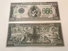 Ghost B.C. 666 Dollar Bill Tour Money Popestar Papa Emeritus RARE Metal Rock OOP