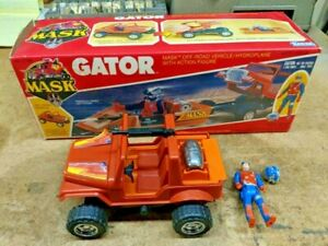 1985 Kenner Mask M.A.S.K. Gator Jeep hydroplane, complete in box