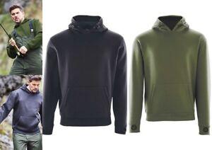 Green & Black Heavy Lined Hoodie Hoody Top - Fishing Clothing