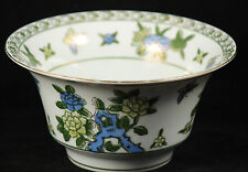 Vintage Hand Painted Porcelain Bowl Hand Painted #9399 Gold Trim Blue Flowers