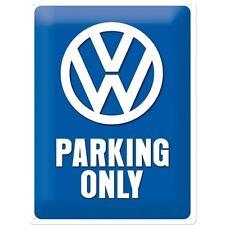 Nostalgie Blechschild - VW Parking Only - Blechschilder