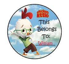PERSONALIZED CHICKEN LITTLE Property Stickers school books NAME TAGS LABELS