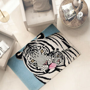 Carpet Hall Living Room Bathroom Soft 100% Wool 60x90 CM Down Bed Room Tiger