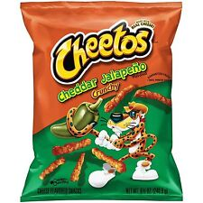 NEW SEALED CHEETOS CHEDDAR JALAPENO CRUNCHY CHIPS 8.5 OZ FREE WORLDWIDE SHPPING