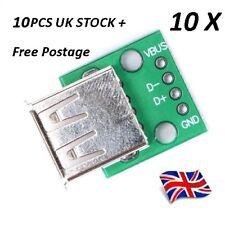 Adaptador Hembra USB a sumergir/Convertidor de tipo A 2.54 MM tablero del PWB, 10 PC libre del!