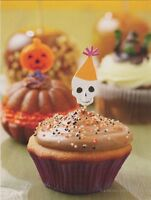 "*Halloween-""The Skeleton-Head Decoration/Halloween Cupcake""  {Postcard} (V-24)"