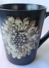 New listing Coffee Cup Black & White Floral coffee Mug By Parker and Jane