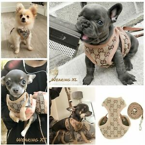 XXXS XXS XS Small Breeds Harness Coat +LEASH Chihuahua Puppy Dog Toy Mini