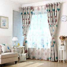 Modern Floral Window Curtain Drape Screen Sheer Valance Blackout Voile Beige