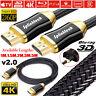 PREMIUM 4K HDMI Cable v2.0 HD 2160p 3D High Speed Ethernet AV Lead 1m 5m 10m 20m