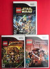 LEGO Pirates of the Caribbean, Star Wars Complete, Indiana Jones Nintendo Wii
