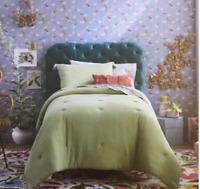 Opalhouse Cotton Gauze Comforter Set Solid Green  Twin XL new