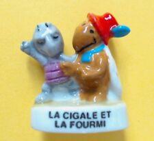 1 FEVE BRILLANTE > LA CIGALE ET LA FOURMI .. FABLE DE LA FONTAINE