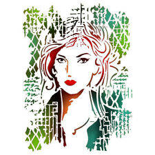 NEW Stamperia A4 Stencil Woman Picture