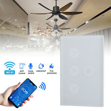 Smart WiFi In-Wall Ceiling Fan/Light Switch Voice Timer Compatible Alexa Google