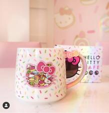 Brand New Hello Kitty Cafe Exclusive Sprinkles Bow Mug RARE