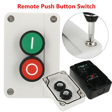 Push Button Station Switch Remote Start Stop Motor Solenoid IP55 New Button Box