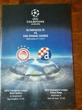 Programme Uefa Champions League Olympiacos Fc - Gnk Dinamo Zagreb