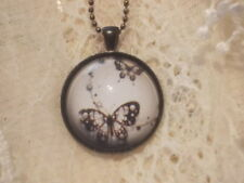 Butterfly Glass Fashion Necklaces & Pendants