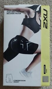 2XU Compression Short Women's Size: MED. Black & Silver NEW & On SALE!