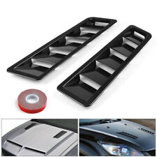 Fits 17X5 Inch Black Universal ABS Hood Vent Louver Air Cooling Panel Trim Set