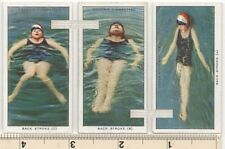 Back Stroke Swimming Pool Water Sport Lot of 3 85+ Y/O Ad Trade Cards 2