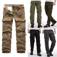 Homme Compatible Avec Cargo Combat Pantalons Baggy Militaire Décontracté