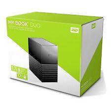WD My Book Duo 12 TB - WDBFBE0120JBK-EESN, 3.5 Zoll, Festplatte, Schwarz NEU OVP