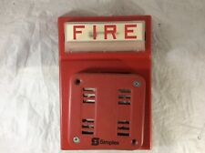 SIMPLEX FIRE ALARM RED FLASH HORN STROBE WALL MOUNT COMBO 4903-9101 2901-9846