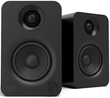 Kanto Audio Yu Powered Desktop Speakers - PAIR Matte Black Active Desk