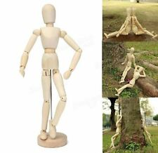 """30cm 12"""" Wooden Manikin Movable Limbs Human Mannequin Model For Artist Sketching"""