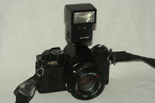 Sears KSX Super camera, 50 mm 1:7 lens, flash, batteries for student photography