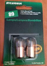 Sylvania #89 Dome, Map & Trunk Car Auto Light Bulbs 2 Pack