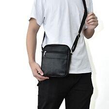 Men's Fashion Genuine Leather Mini Messenger Cross Body Bag Shoulder Bag
