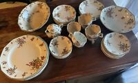Old Leed Spray Royal Doulton Dinner Set With Tea Cups- Vintage- China- England