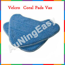 2X Blue Velcro Coral Pads Vax X5 Steam Mop Pad H2O Washable Cloth Pad20AA