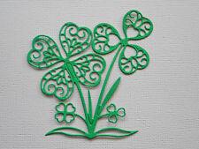 Shamrock Four Leaf Clover Paper Die Cuts x 8 Scrapbooking Embellishment
