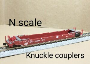 Santa Fe SFLC Husky stack 48' well car N scale MTL Micro Trains intermodal ATSF