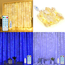 1pc 300 LED_Curtain Fairy USB String Lights Party Wedding Xmas Decor,3M x 3M