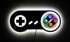 Super Nintendo lamp, SNES Controller night lights, Wall and table Gaming lamp