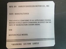 ID Number Decal Frame VIN for Any Harley-Davidson Motorcycle All Models Bikes